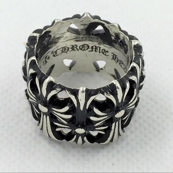 b52cbd57b030 Chrome Hearts Jewelry - Chrome Heart Silver Cemetery Ring